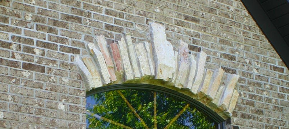 Exterior stone transom